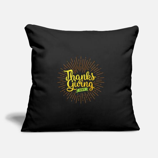Gift Idea Pillow Cases - Happy Thanksgiving Day Thanksgiving Thanksgiving - Pillowcase 17,3'' x 17,3'' (45 x 45 cm) black