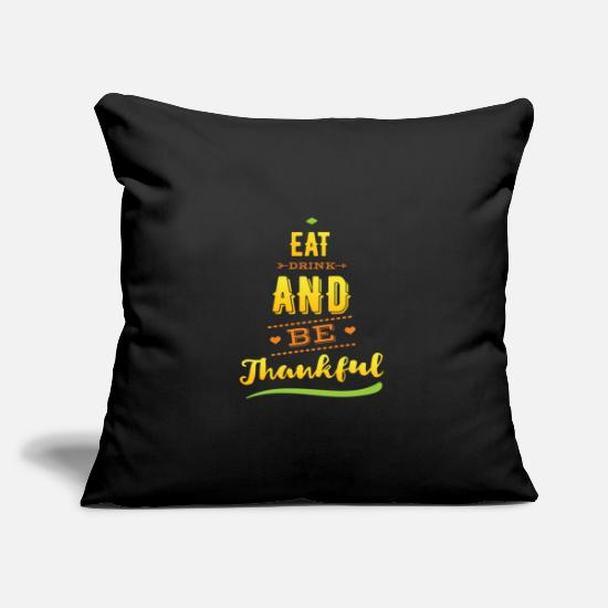 Gift Idea Pillow Cases - Thanksgiving Quote Thanksgiving feast - Pillowcase 17,3'' x 17,3'' (45 x 45 cm) black
