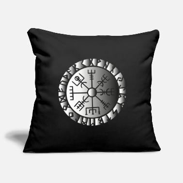 Norse Compass Viking symbol sign Norse gods compass - Pillowcase 17,3'' x 17,3'' (45 x 45 cm)