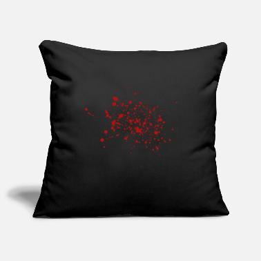 Blood splatter T-shirt for butchers and butchers - Pillowcase 17,3'' x 17,3'' (45 x 45 cm)