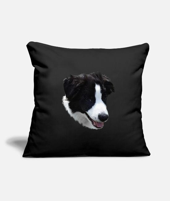 Sweet Dog Pillow Cases - Border Collie canvas, dogs, dear dogs - Pillowcase 17,3'' x 17,3'' (45 x 45 cm) black