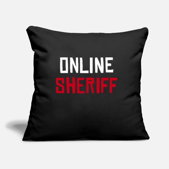 Game Pillow Cases - Online sheriff - Pillowcase 17,3'' x 17,3'' (45 x 45 cm) black