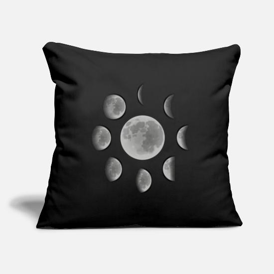 Full Moon Pillow Cases - Moons full moon half moon - Pillowcase 17,3'' x 17,3'' (45 x 45 cm) black