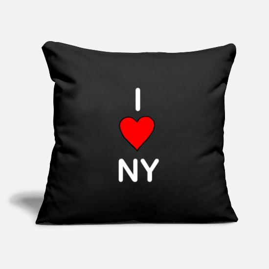 Love Pillow Cases - I LOVE NEW YORK - Pillowcase 17,3'' x 17,3'' (45 x 45 cm) black