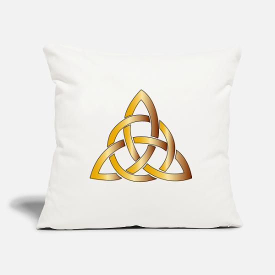 Celtic Knot Pillow Cases - Trinity Knot - Pillowcase 17,3'' x 17,3'' (45 x 45 cm) natural white