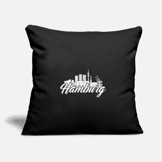 Harbour Pillow Cases - Hamburg - Pillowcase 17,3'' x 17,3'' (45 x 45 cm) black