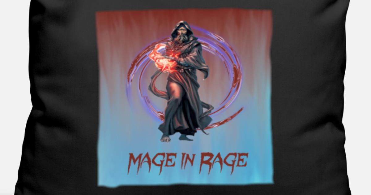 Mage In Rage Magier Rpg Mmorpg Pen And Paper Idee Kissenhülle