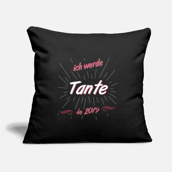 Niece Pillow Cases - Aunt 2019 - Pillowcase 17,3'' x 17,3'' (45 x 45 cm) black