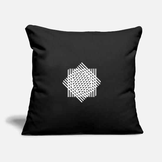 Birthday Pillow Cases - Unique pattern - Pillowcase 17,3'' x 17,3'' (45 x 45 cm) black