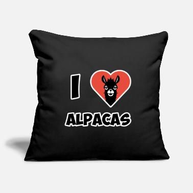 I Love Alpacas Alpaca for women - I love Alpacas - Pillowcase 17,3'' x 17,3'' (45 x 45 cm)