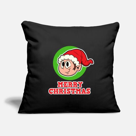 Christmas Pillow Cases - Gnome for Christmas - Gnome Merry Christmas - Pillowcase 17,3'' x 17,3'' (45 x 45 cm) black