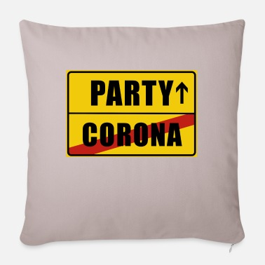 Rausch Place Sign Party Lockdown Corona - Pillowcase 17,3'' x 17,3'' (45 x 45 cm)