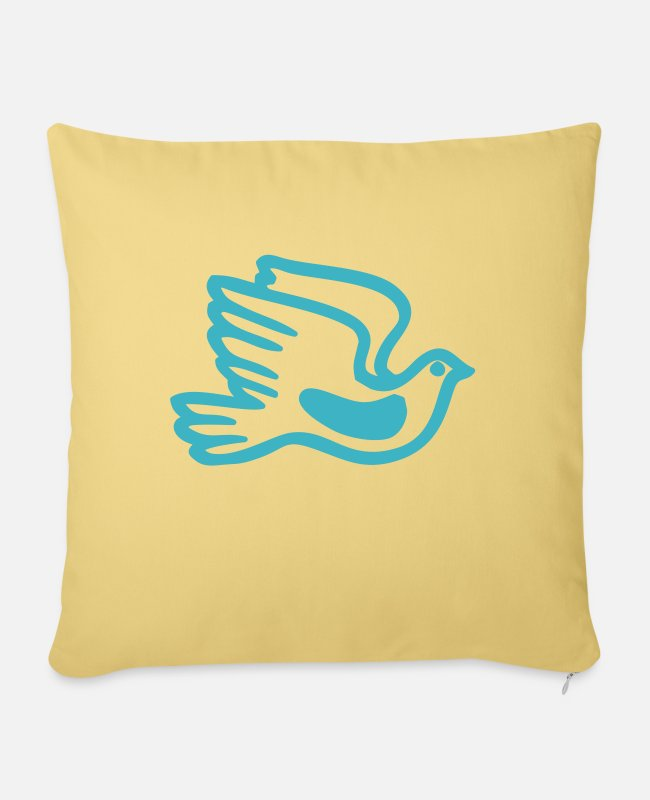 Design Pillow Cases - dove of peace - Pillowcase 17,3'' x 17,3'' (45 x 45 cm) washed yellow