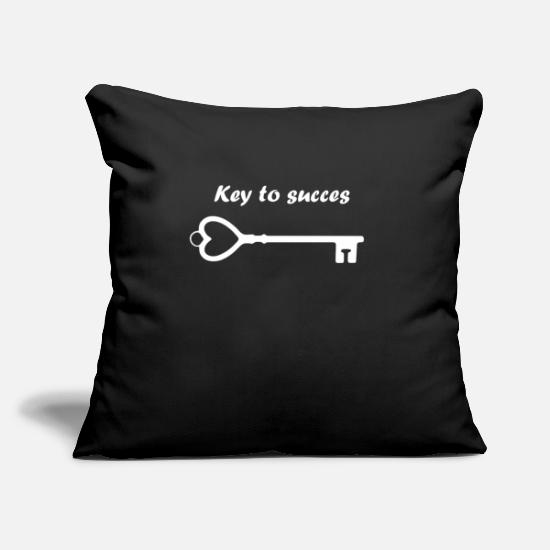 Love Pillow Cases - key - Pillowcase 17,3'' x 17,3'' (45 x 45 cm) black