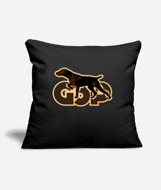 Raider Pillow Cases - gsp_german_shorhaired_pointer - Pillowcase 17,3'' x 17,3'' (45 x 45 cm) black