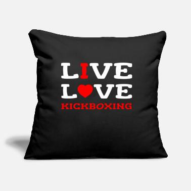 Coach I Live Love Kickboxing Girl Woman Female Kickbox - Pillowcase 17,3'' x 17,3'' (45 x 45 cm)