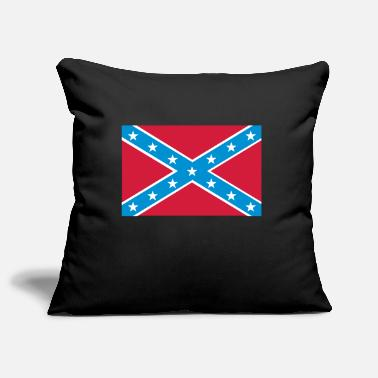 Confederate Rebel Confederate Flag - Pillowcase 17,3'' x 17,3'' (45 x 45 cm)