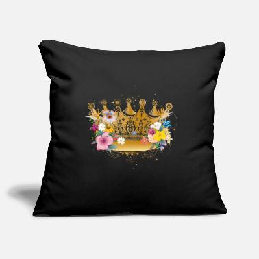 Golden Crown Golden crown with flowers - Pillowcase 17,3'' x 17,3'' (45 x 45 cm)