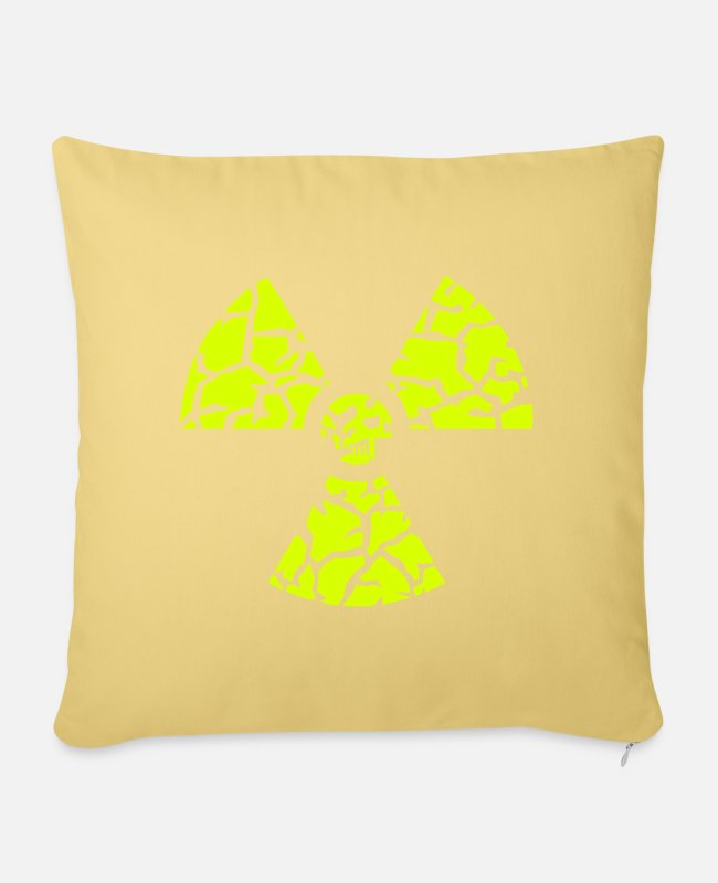 Chernobyl Pillow Cases - against nuclear power - Pillowcase 17,3'' x 17,3'' (45 x 45 cm) washed yellow