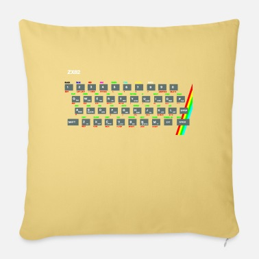 Spectrum Computer ZX81 (Zed-Ex) Spectrum Keyboard - Pillowcase 17,3'' x 17,3'' (45 x 45 cm)