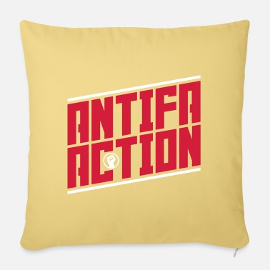 Antifa Antifa action - Pillowcase 17,3'' x 17,3'' (45 x 45 cm)
