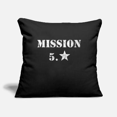 Public Viewing Mission 5th Star Football Fanshirt Public Viewing - Pillowcase 17,3'' x 17,3'' (45 x 45 cm)