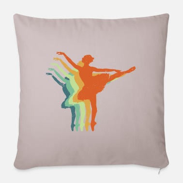 Holidays Retro Ballerina - Awesome Ballet Dancers Gift - Pillowcase 17,3'' x 17,3'' (45 x 45 cm)