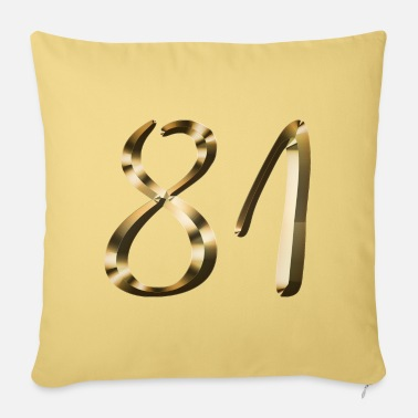 Lets Have A Party 81 years 81 years gold 81st birthday gift - Pillowcase 17,3'' x 17,3'' (45 x 45 cm)