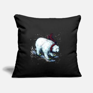 Christmas Collection Polar Bear Ski - Pillowcase 17,3'' x 17,3'' (45 x 45 cm)