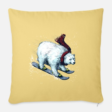 Christmas Polar Bear Ski - Pillowcase 17,3'' x 17,3'' (45 x 45 cm)