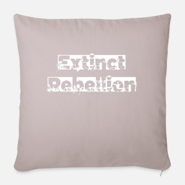 Extinction Rebellion extinct rebellion white - Pillowcase 17,3'' x 17,3'' (45 x 45 cm)