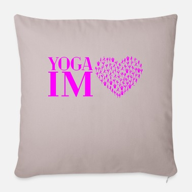 Yoga in the heart pink - Pillowcase 17,3'' x 17,3'' (45 x 45 cm)
