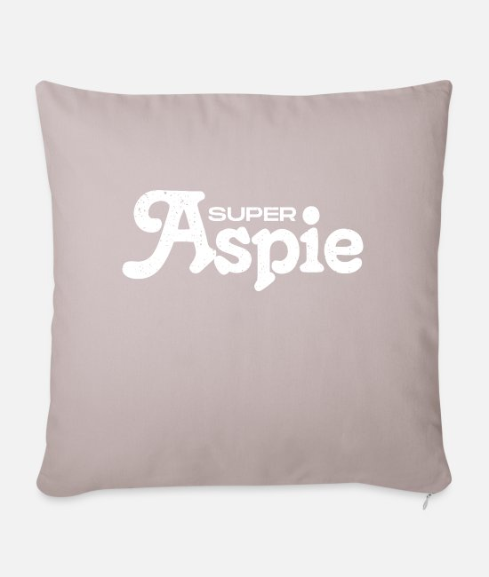 Adhd Pillow Cases - Aspie Asperger syndrome - Pillowcase 17,3'' x 17,3'' (45 x 45 cm) light taupe