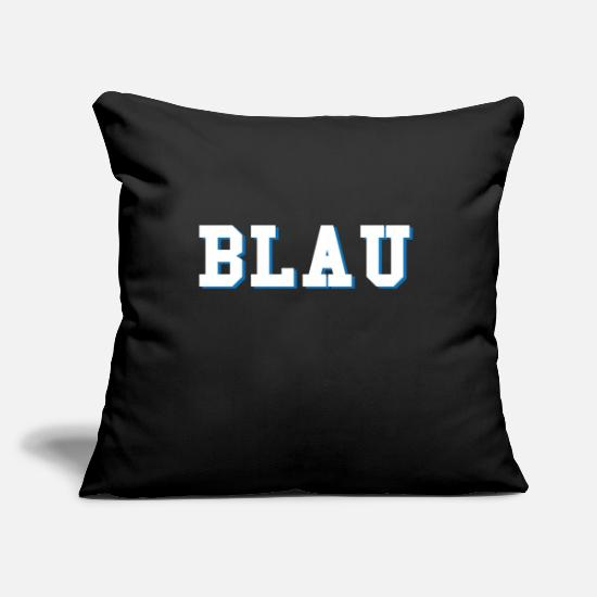 Blue White Pillow Cases - blue - Pillowcase 17,3'' x 17,3'' (45 x 45 cm) black