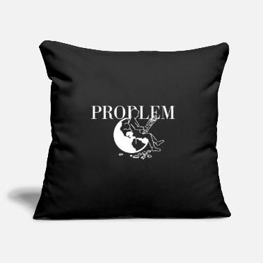 Problem white - Pillowcase 17,3'' x 17,3'' (45 x 45 cm)