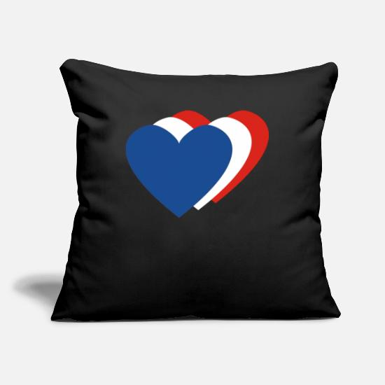 Birthday Pillow Cases - Holland hearts - Pillowcase 17,3'' x 17,3'' (45 x 45 cm) black