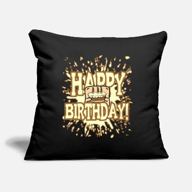 Little Creatures Funny little creature - brings birthday cake - Pillowcase 17,3'' x 17,3'' (45 x 45 cm)