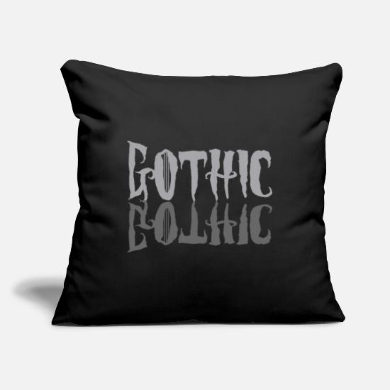 Rock Pillow Cases - Gothic / Goth - Pillowcase 17,3'' x 17,3'' (45 x 45 cm) black