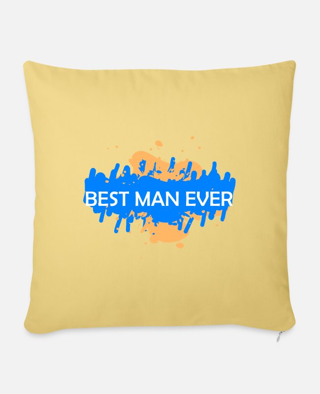 Party Pillow Cases - The best man - Pillowcase 17,3'' x 17,3'' (45 x 45 cm) washed yellow