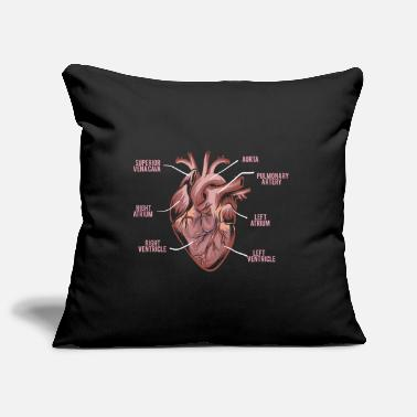 Heart Heart Anatomy - Anatomy of a Heart - Pillowcase 17,3'' x 17,3'' (45 x 45 cm)
