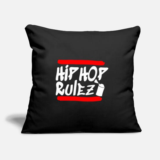 Rap Pillow Cases - Hip Hop rap rappers - Pillowcase 17,3'' x 17,3'' (45 x 45 cm) black