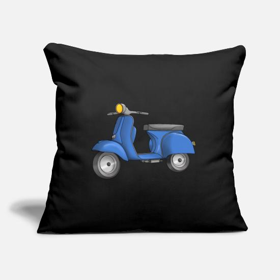Scooter Pillow Cases - Scooter - Scooter - Moped - Pillowcase 17,3'' x 17,3'' (45 x 45 cm) black