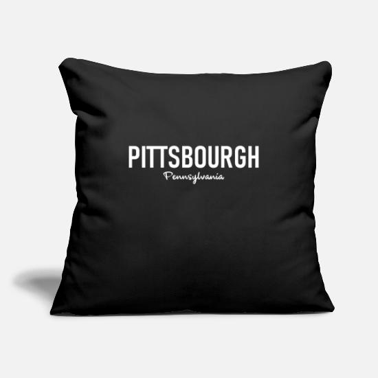 State Pillow Cases - Pittsburgh - Pennsylvania - United States - United States - Pillowcase 17,3'' x 17,3'' (45 x 45 cm) black