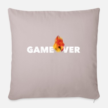 Game Over Gamer Shirt, Burning Game Over - Kissenhülle