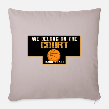 Free Throw We belong on the court - Pillowcase 17,3'' x 17,3'' (45 x 45 cm)