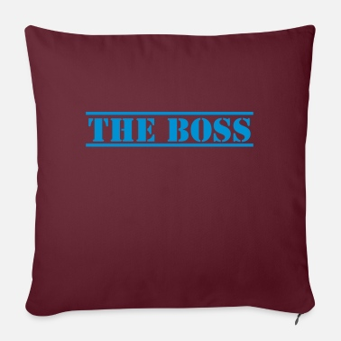 Stencil THE BOSS in stencil - Pillowcase 17,3'' x 17,3'' (45 x 45 cm)