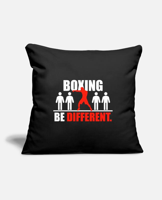 Martial Arts Pillow Cases - Boxing Shirt Be Different - Pillowcase 17,3'' x 17,3'' (45 x 45 cm) black