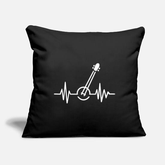 Country Pillow Cases - banjo - Pillowcase 17,3'' x 17,3'' (45 x 45 cm) black