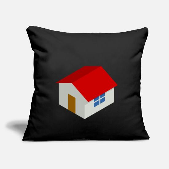 Architect Pillow Cases - building house homes architecture house building189 - Pillowcase 17,3'' x 17,3'' (45 x 45 cm) black