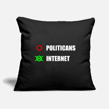 Ballot Ballot Internet instead of politicians - Pillowcase 17,3'' x 17,3'' (45 x 45 cm)